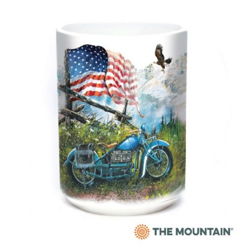 Biker Americana Ceramic Mug | The Mountain®